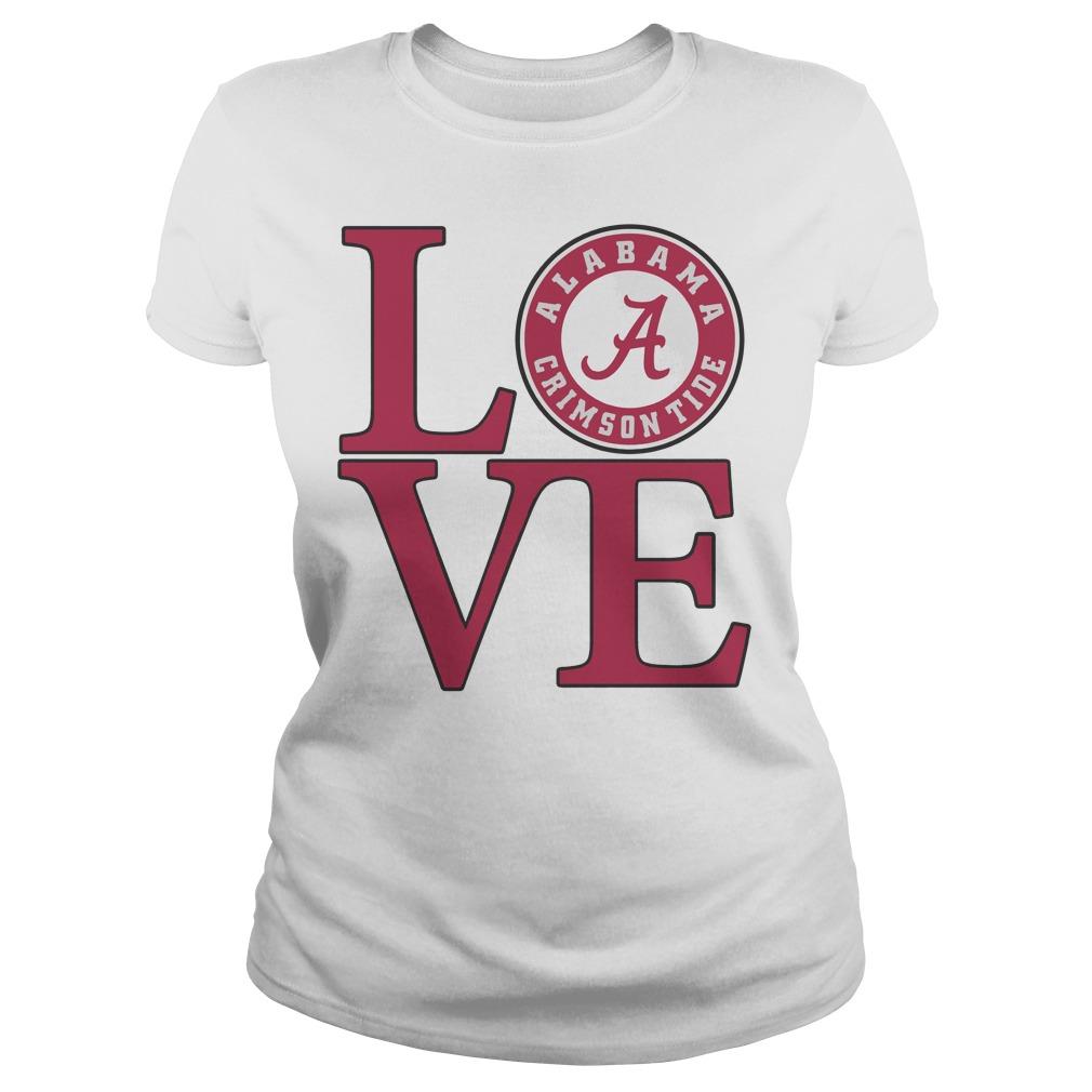 Love Alabama Crimson tide football laides shirt