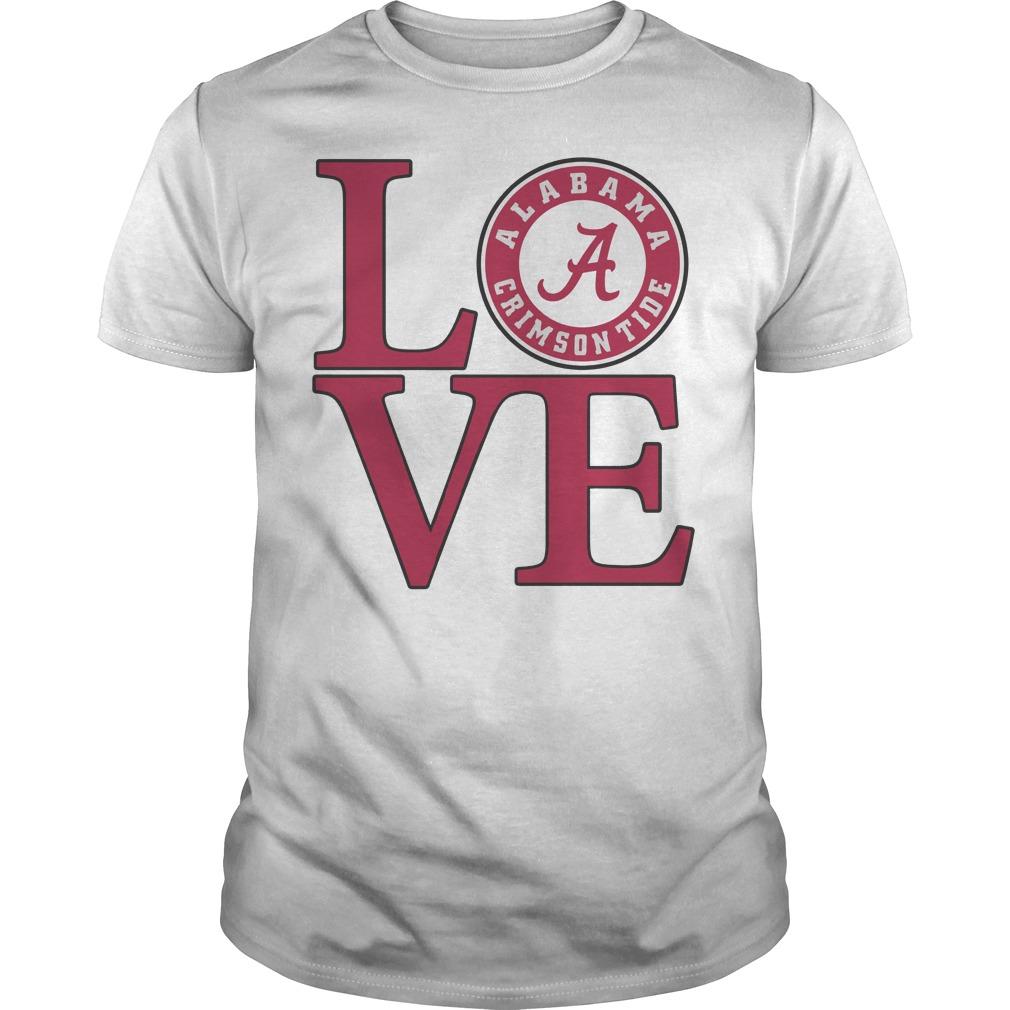 Love Alabama Crimson tide football shirt