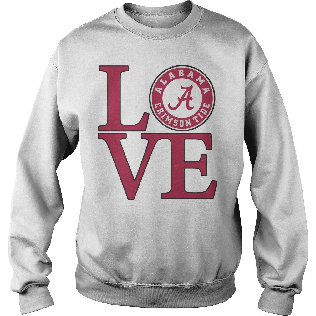 Love Alabama Crimson tide football sweater