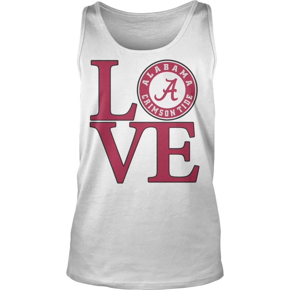 Love Alabama Crimson tide football tank top