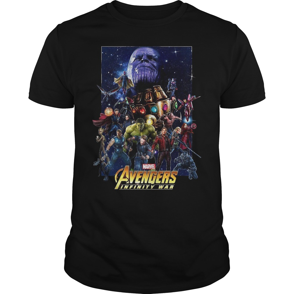 Marvel Avengers Infinity War Team shirt