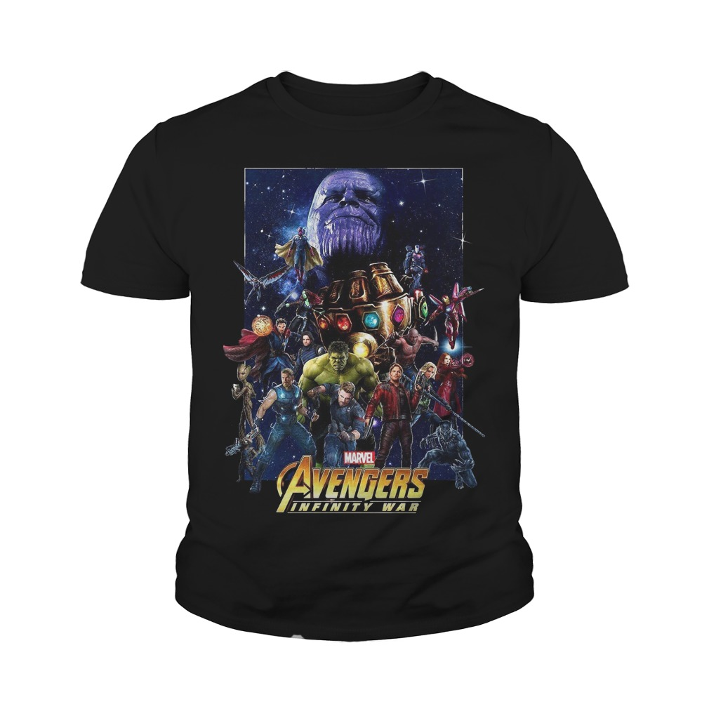 Marvel Avengers Infinity War Team youth tee