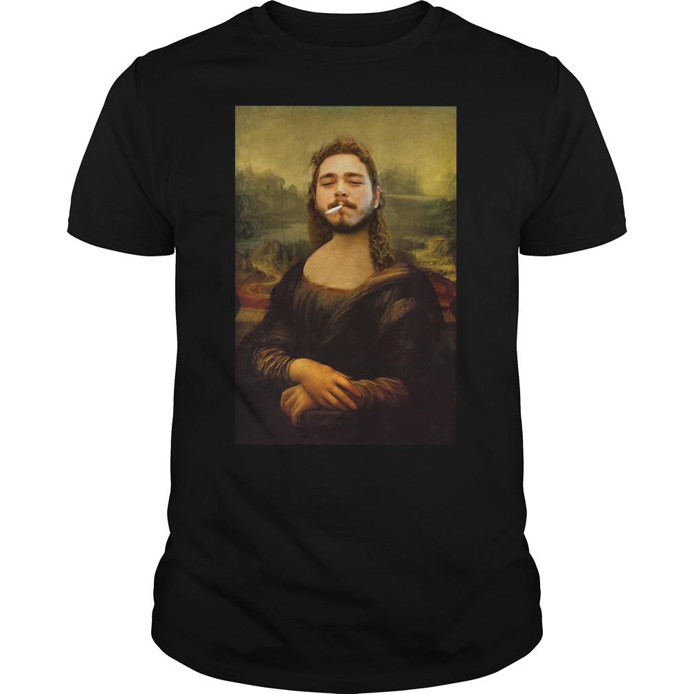 Post Malone Mona Lisa smoking shirt