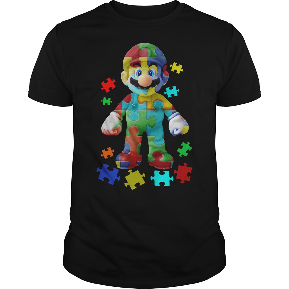 Super Mario Autism Guys t Shirt