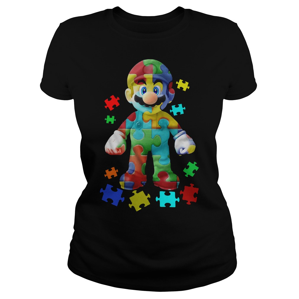 Super Mario Autism Ladies T-Shirt
