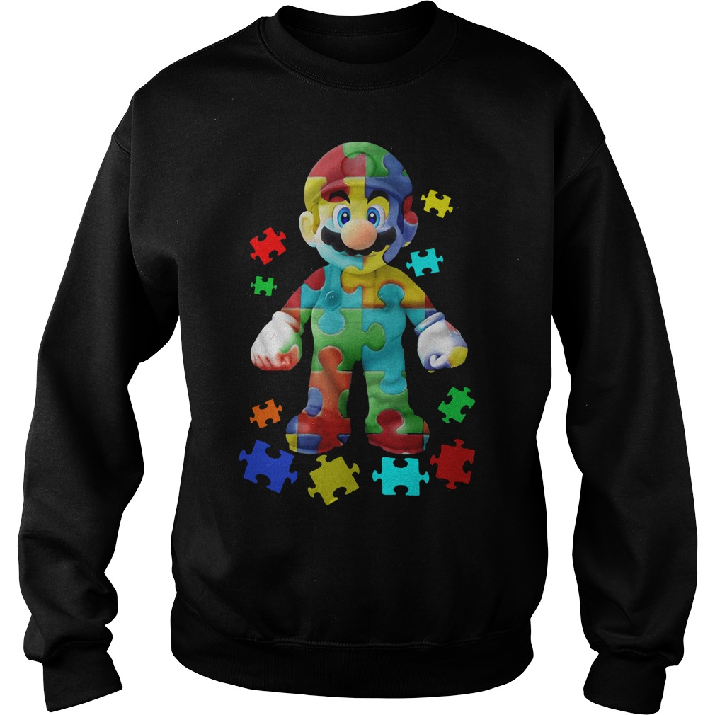 Super Mario Autism Sweater
