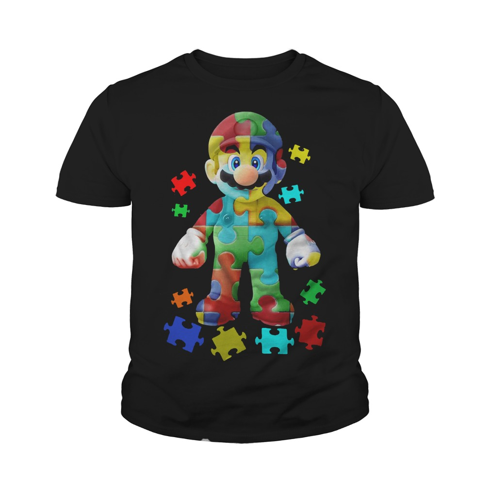Super Mario Autism Youth tee