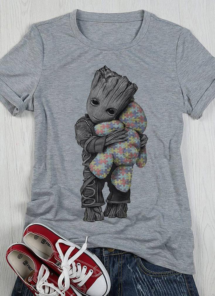 Autism Groot hug teddy shirt