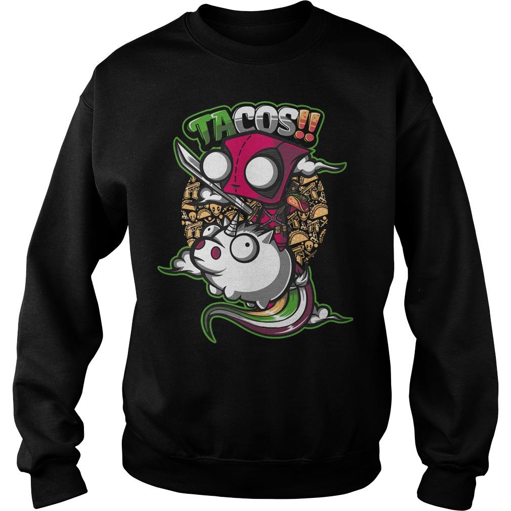 Deadpool tacos unicorn sweater