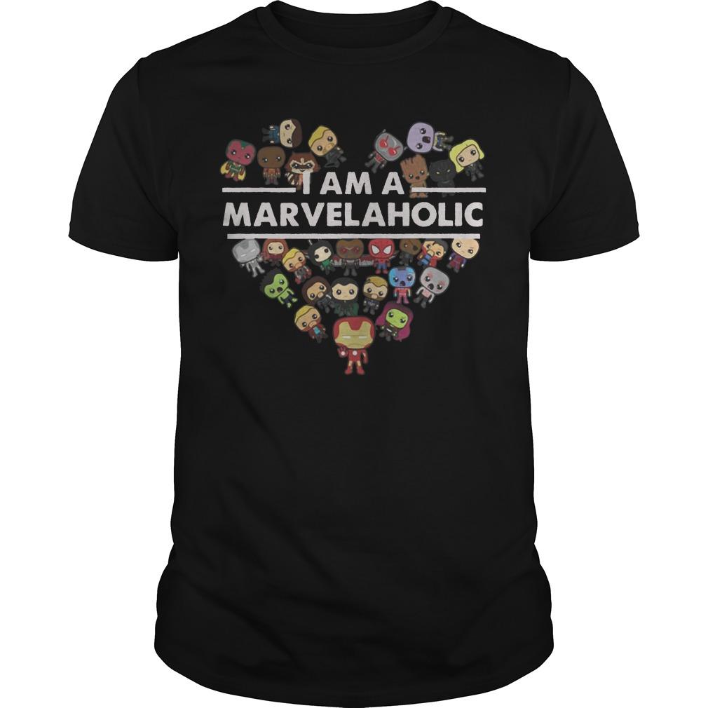 I am the Marvelholic Guys t-shirt