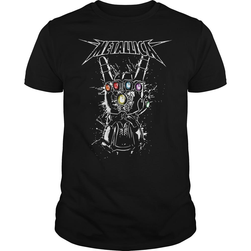 Metallica infinity gauntlet Guys t-shirt