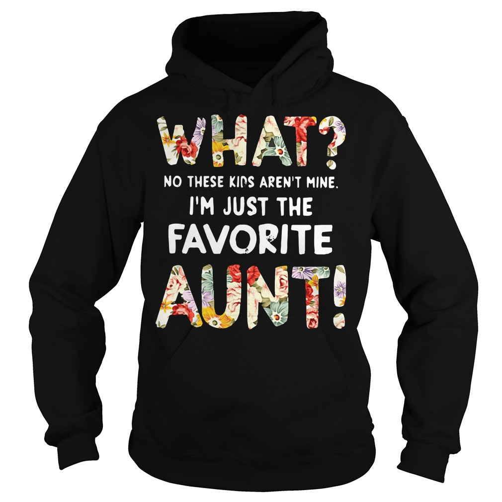 What no these kids aren't mine I'm just the favorite aunt Hoodie