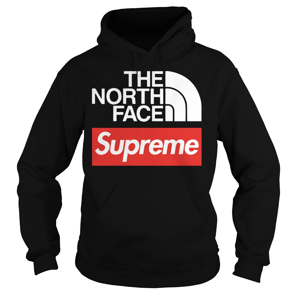 The north face supreme hoodie
