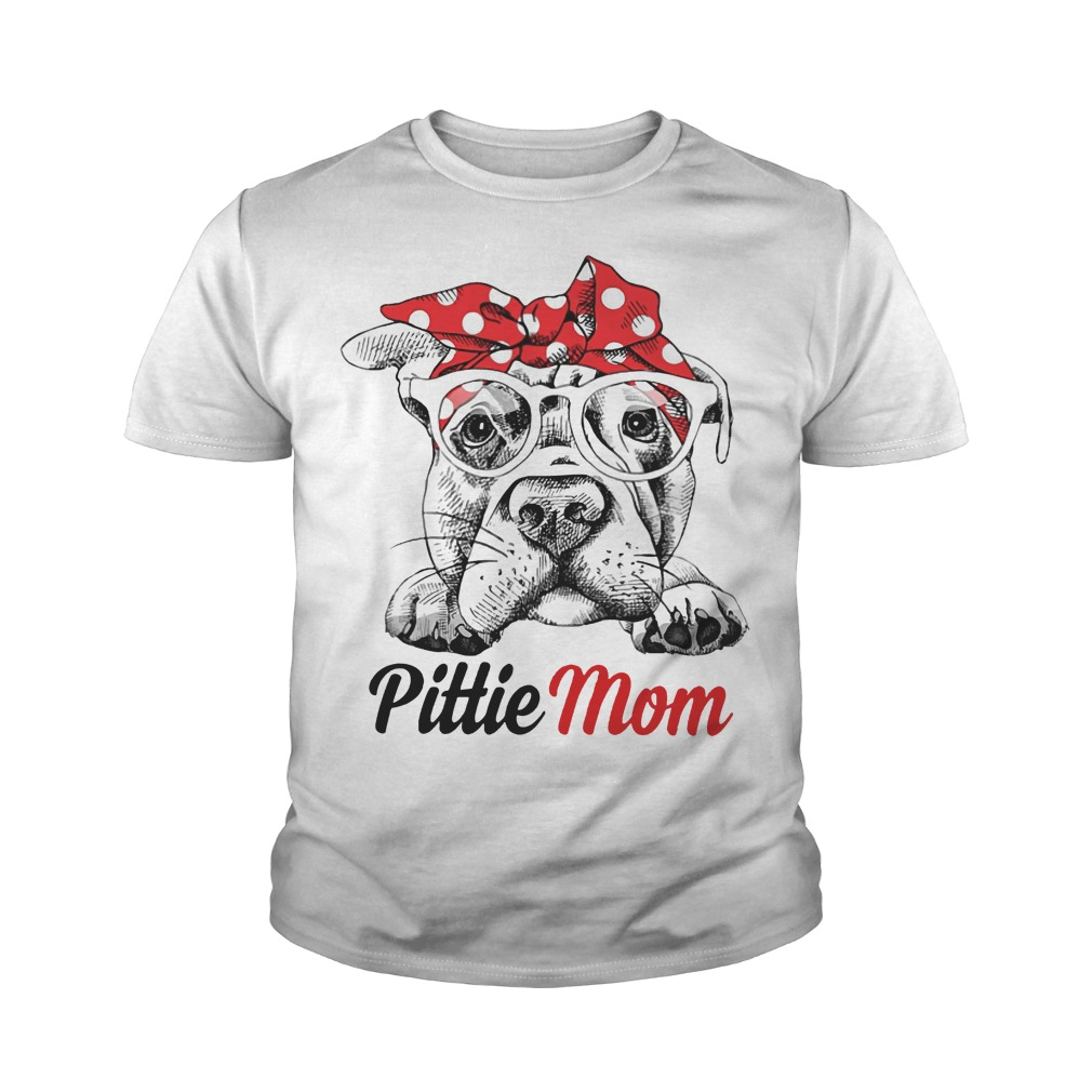 bc8bef6c3a3 Pittie mom youth shirt
