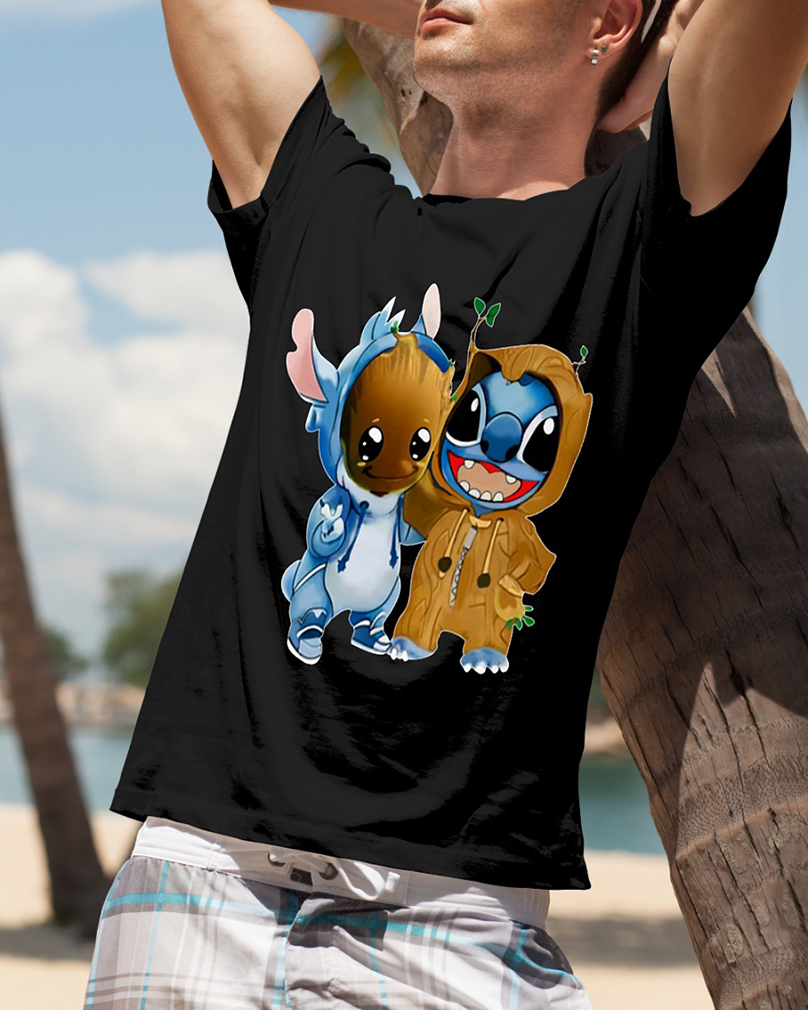 Stitch and Groot shirt