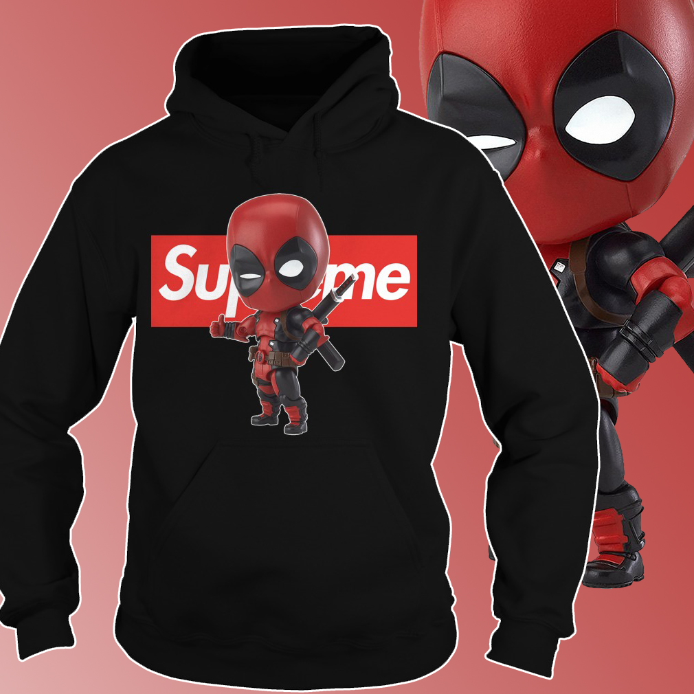 Supreme Deadpool hoodie and t shirt