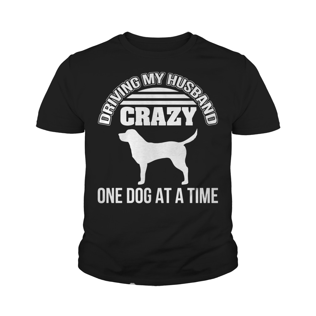 Driving my husband crazy one dog at a time youth tee