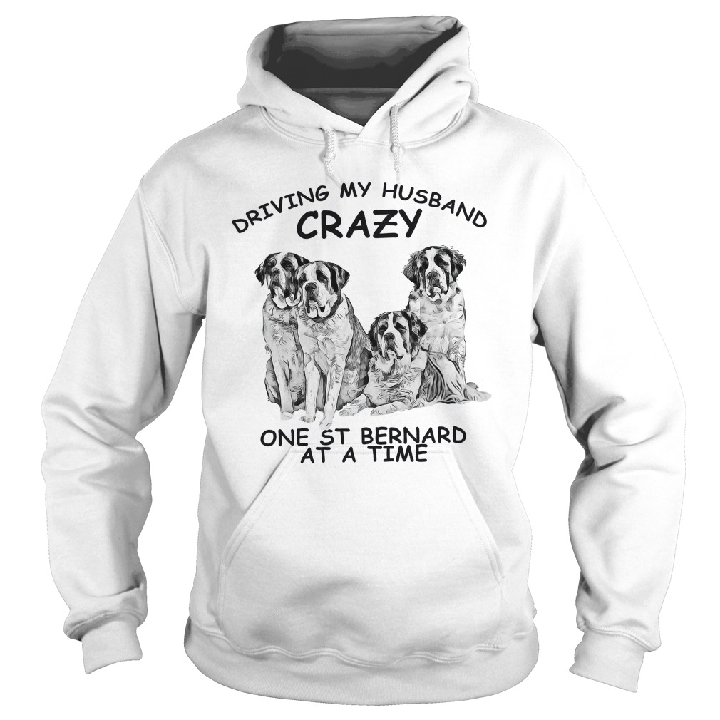 Driving my husband crazy one st bernard at a time Hoodie