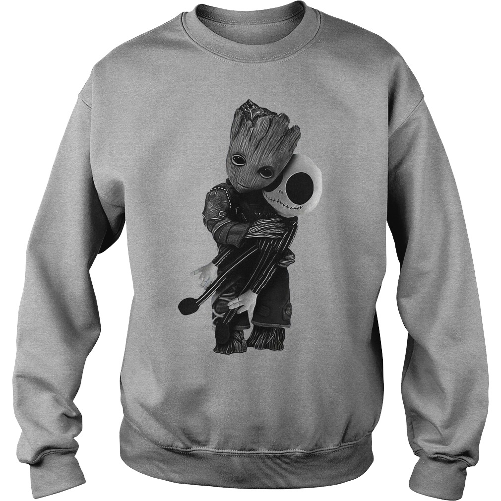 Groot hug Jack Skellington Sweater