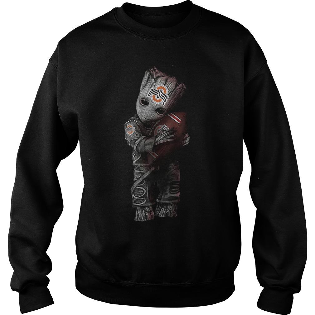 Groot hug Ohio State football sweater