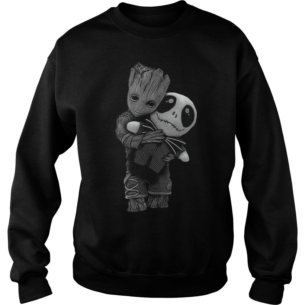 Groot hug tiny Jack Skellington sweater
