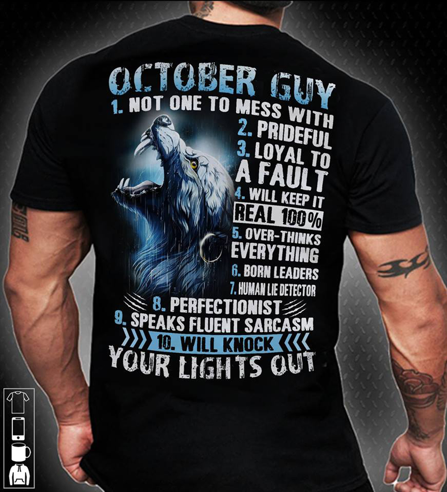 Your lights out: 10 rules of october guy shirt