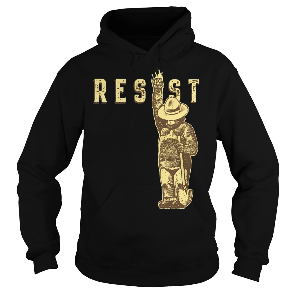 Official smokey bear says resist hoodie