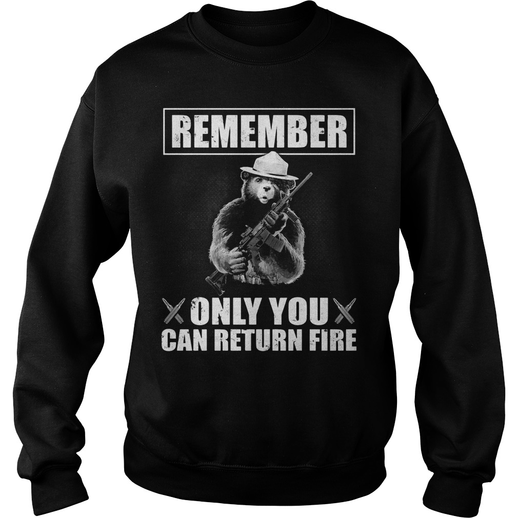 Smokey the Bear: Remember only you can return fire Sweater