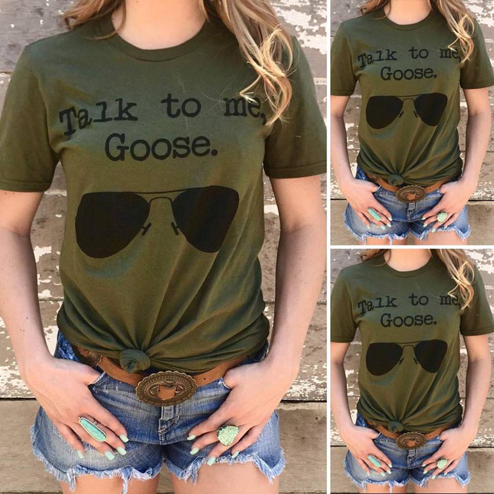 Talk to me goose glass shirt