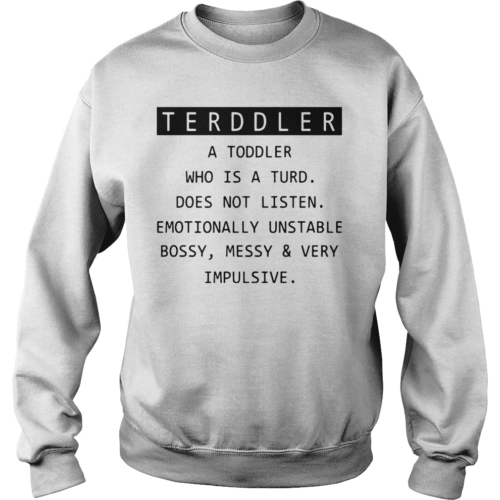 Toddler a toddler who is the turd doesn't listen sweater