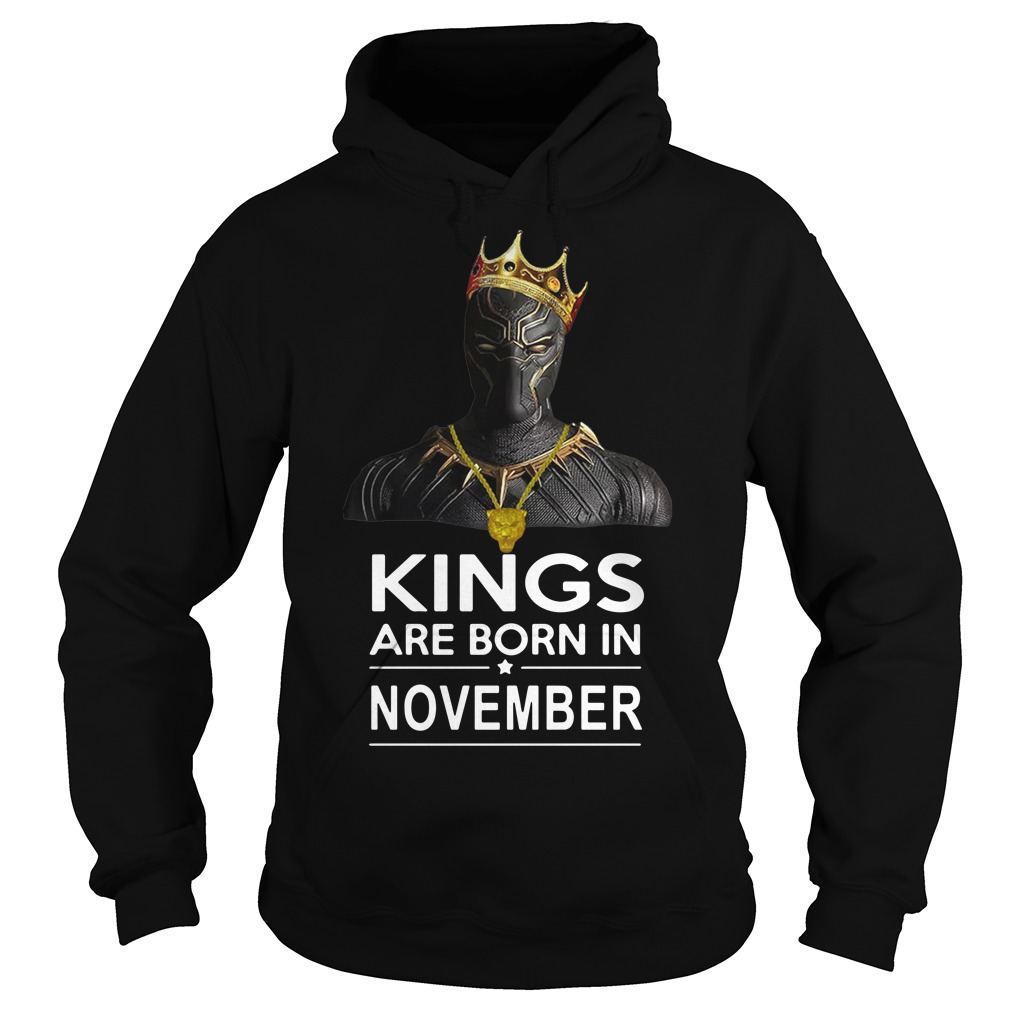 Black Panther kings are born in November hoodie