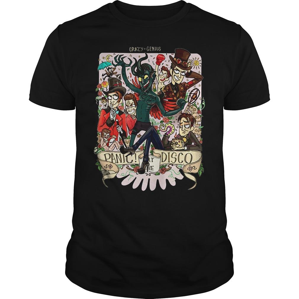 Crazy=genius panic at the Disco Guys shirt