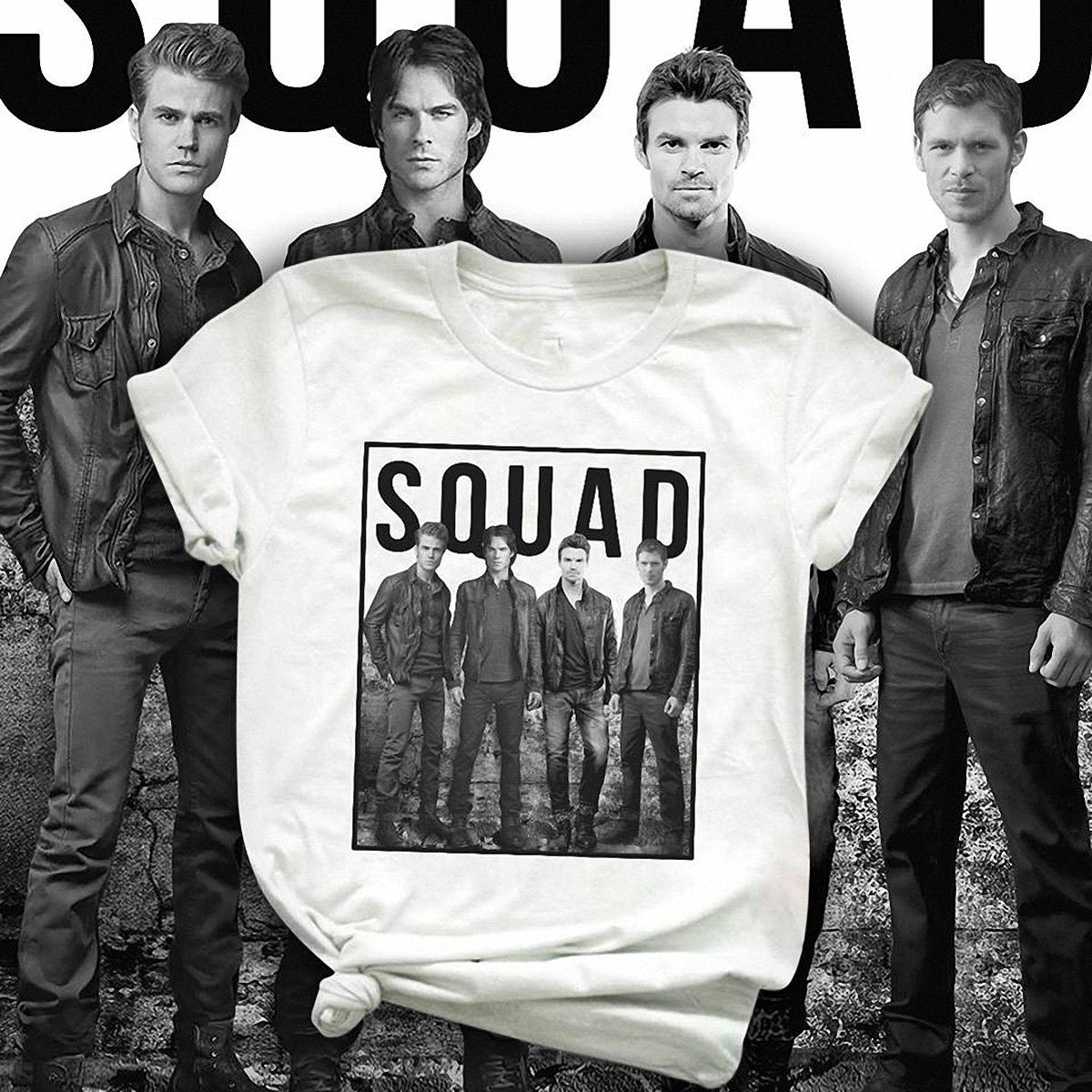 Official Damon Vampire Diaries squad shirt