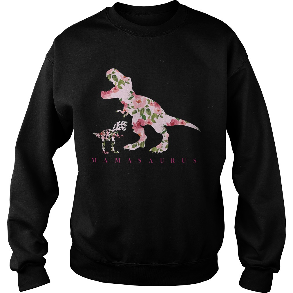 Autism Awareness: Mamasaurus floral sweater