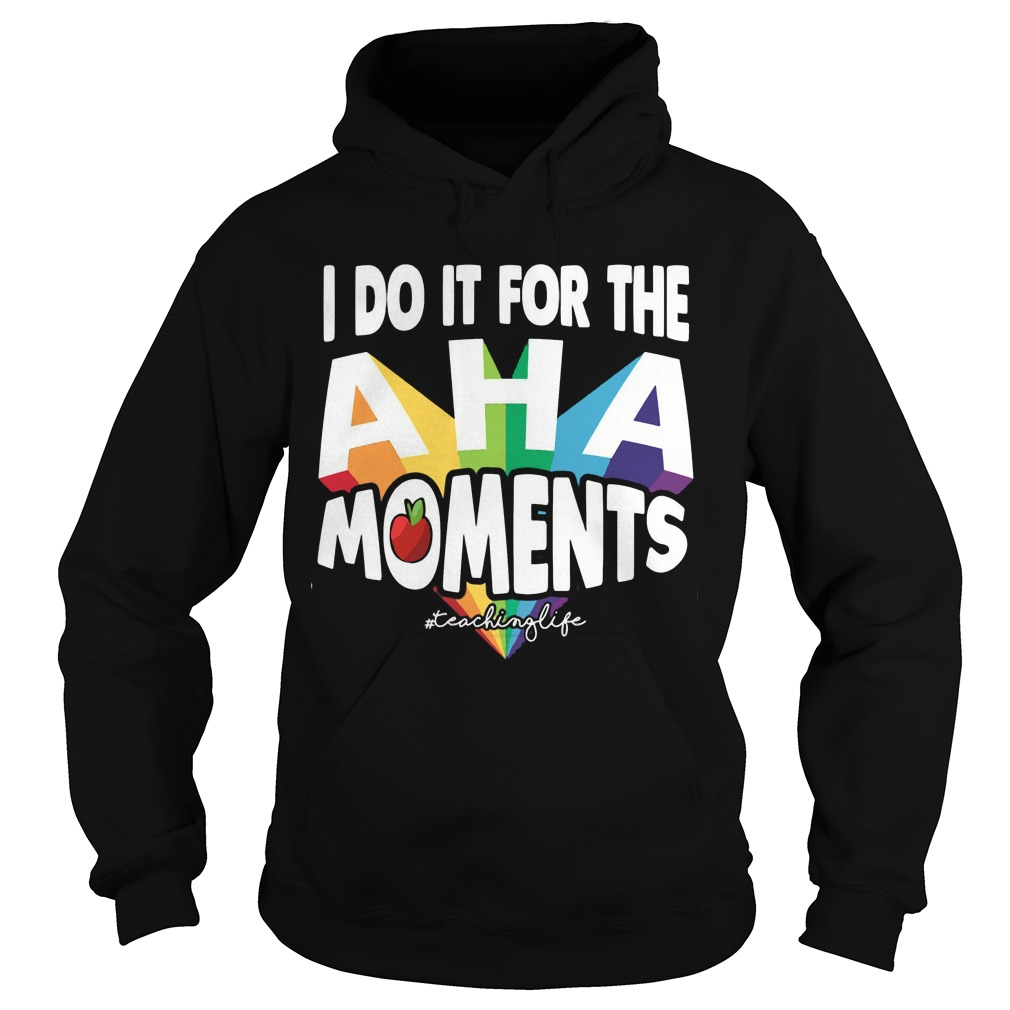 I do it for the Aha moments teaching life Hoodie