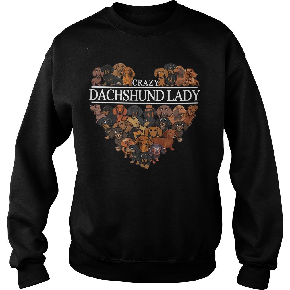 Crazy Dachshund lady aholic sweater