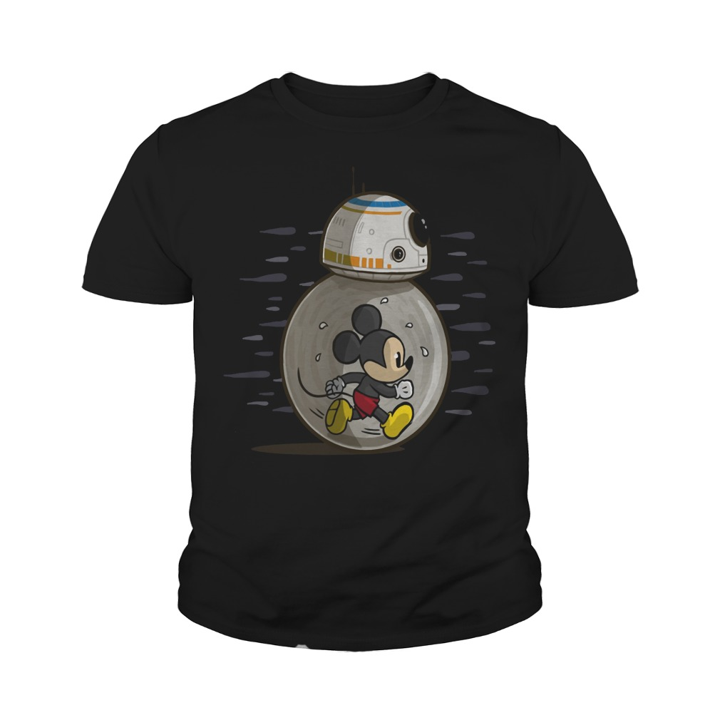 Mickey run in BB-8 Star Wars youth tee