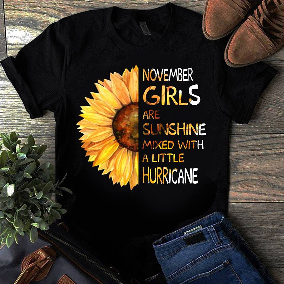 Favorystore November Girls Are Sunshine Mixed With a Little Hurricane Hoodie