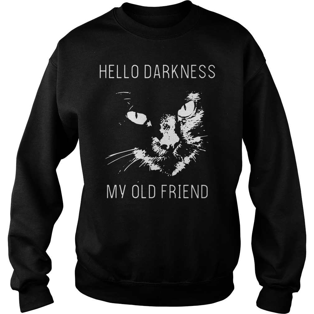 Official Cat hello darkness my old friend sweater