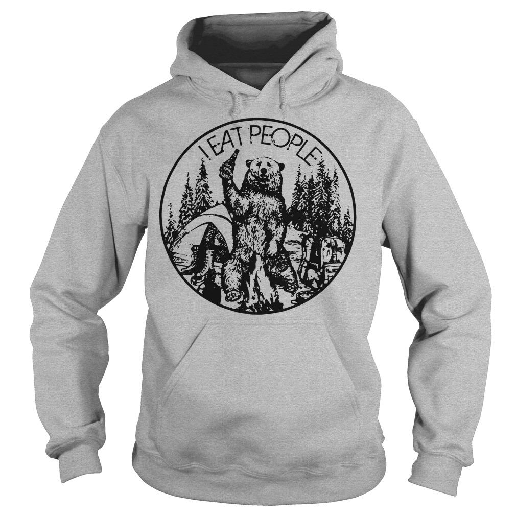 I eat people Camping bear hoodie
