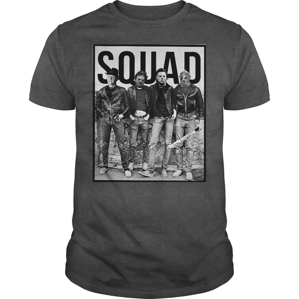 Freddy Jason Michael Myers and Leatherface Squad shirt