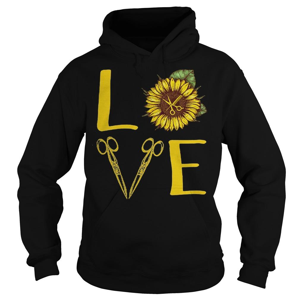 Hair Stylist Love Sunflower Scissors hoodie