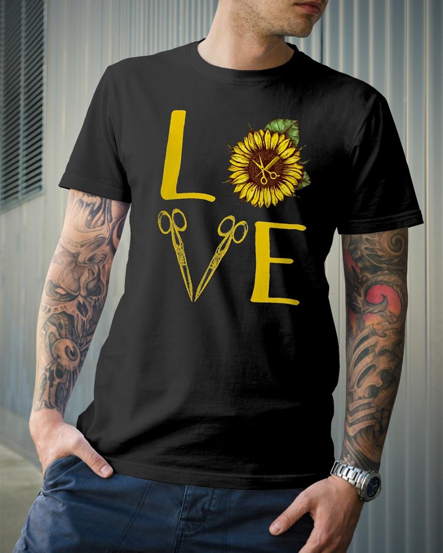 Hair Stylist Love Sunflower Scissors shirt