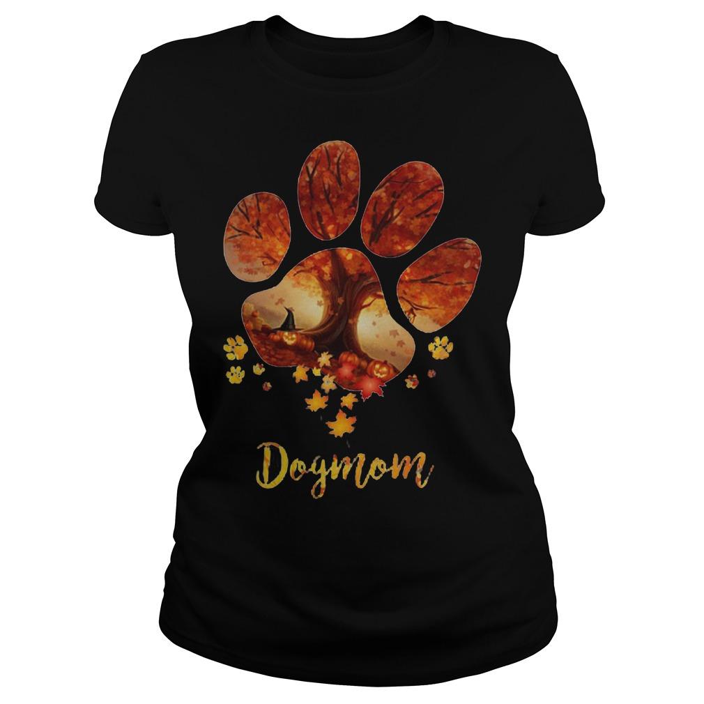 Halloween Dog mom ladies shirt