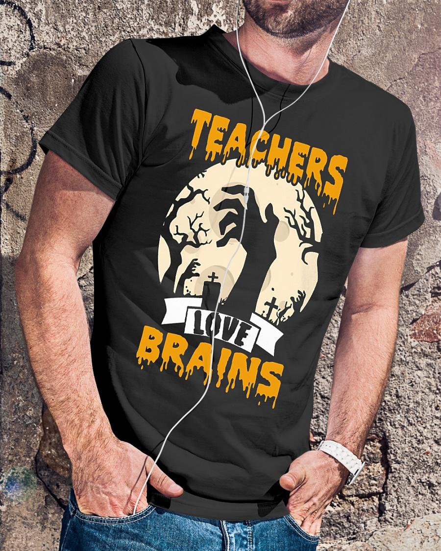 Halloween Teachers love brains shirt