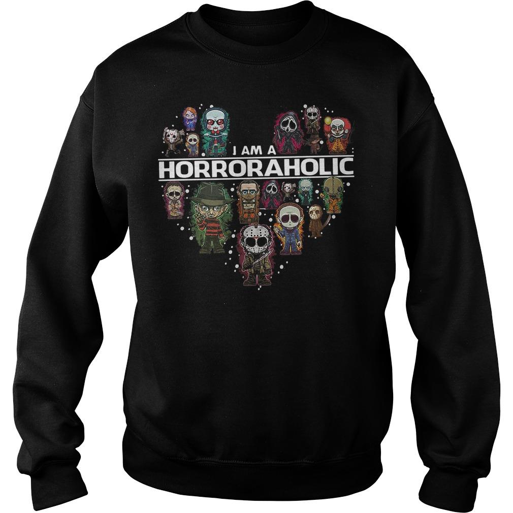 I am a HorrorAholic sweater
