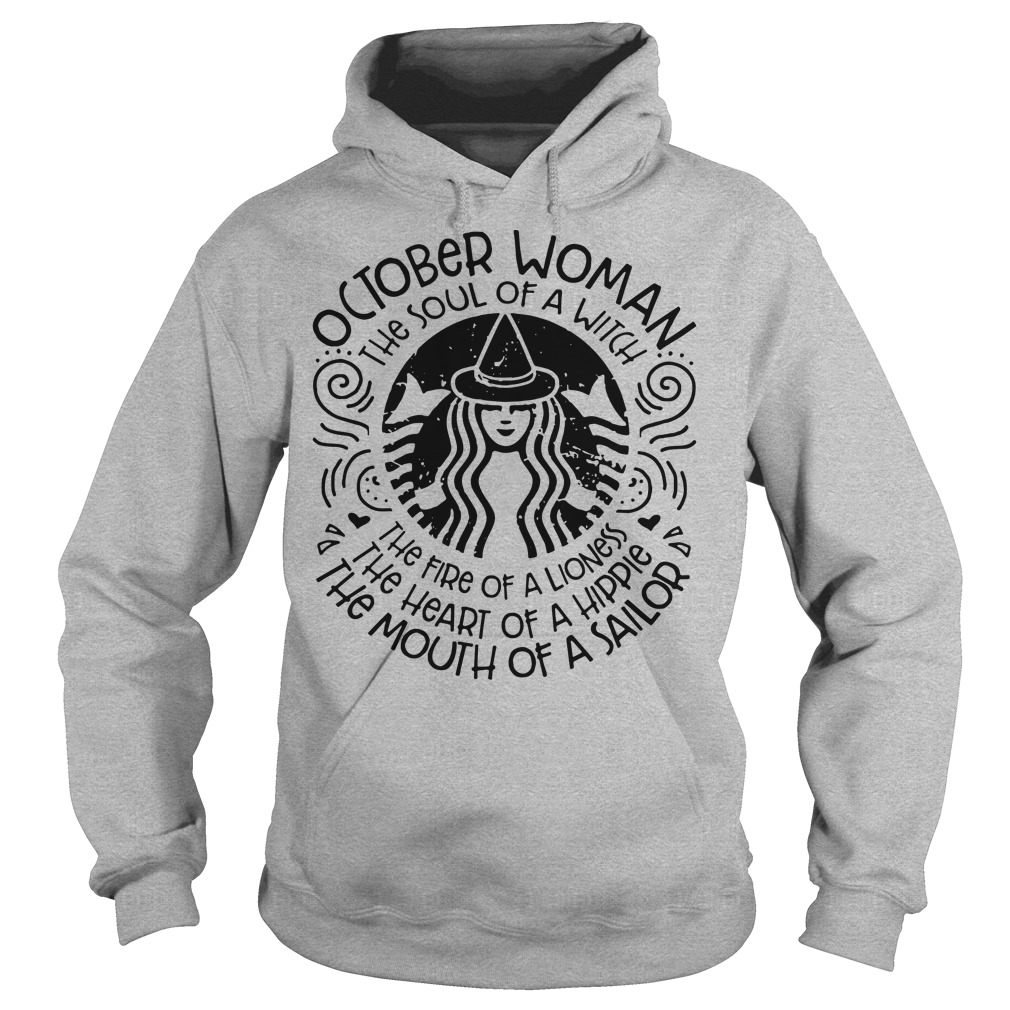 October woman Starbuck hoodie