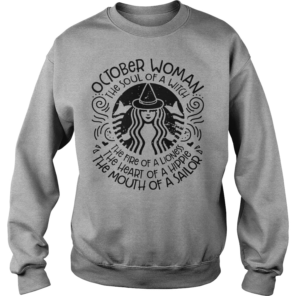 October woman Starbuck sweater