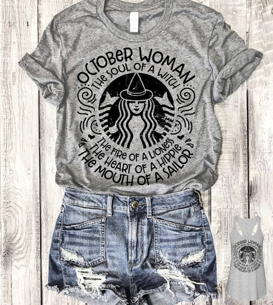 October woman Starbuck shirt
