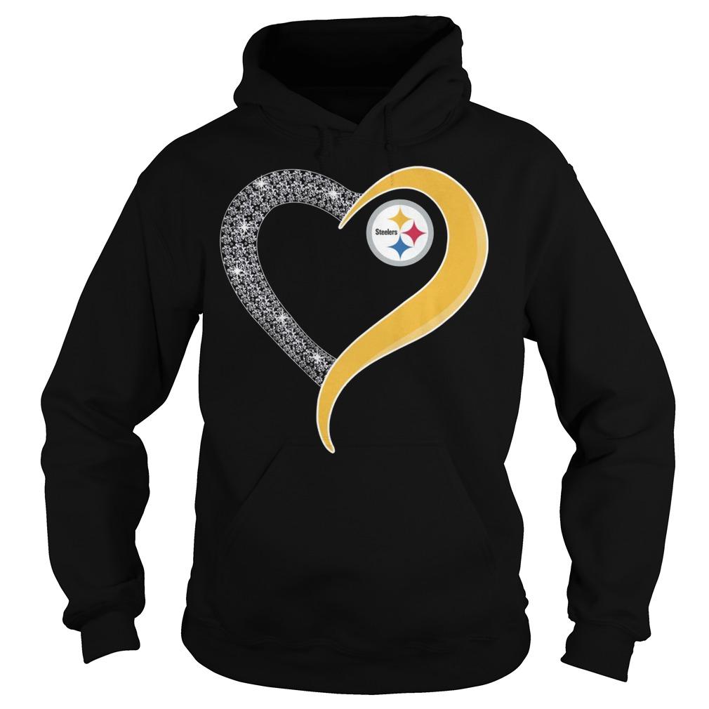 Pittsburgh Steelers heart Hoodie